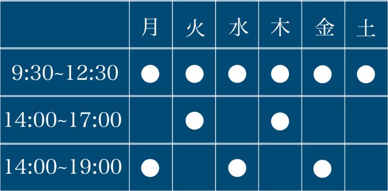 table 02 768x379 - 医院紹介